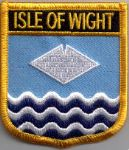 Isle of Wight Embroidered Flag Patch, style 07.